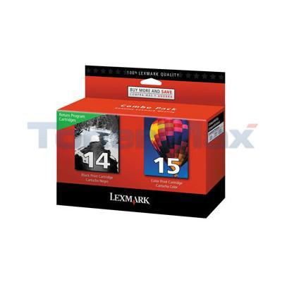 LEXMARK Z2300 NO 14 15 RP PRINT CART CMYK
